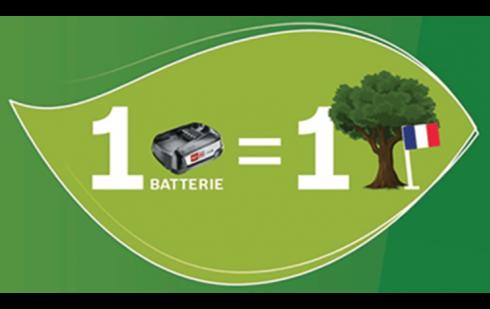 1 Batterie recyclée = 1 arbre planté